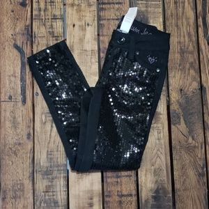 NWT Justice sequin jeans